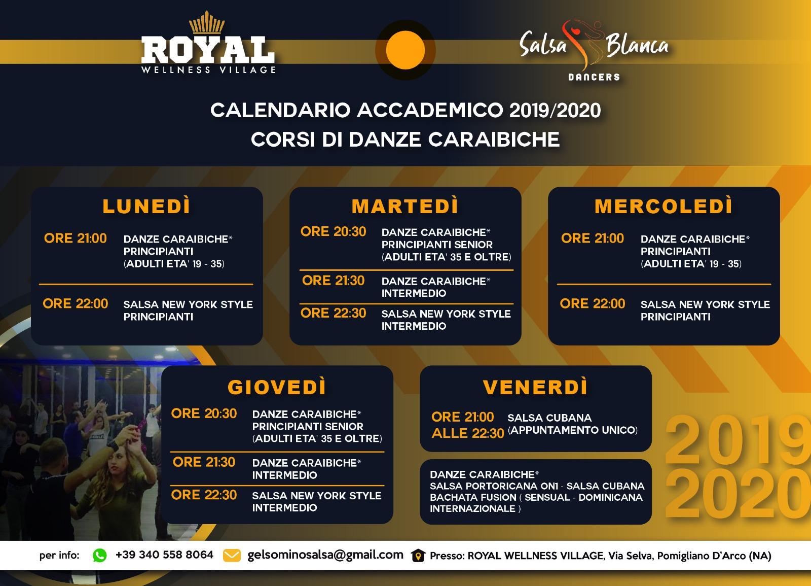Calendario Accademico 2020.Anno Accademico 2019 2020 International Salsa Blanca